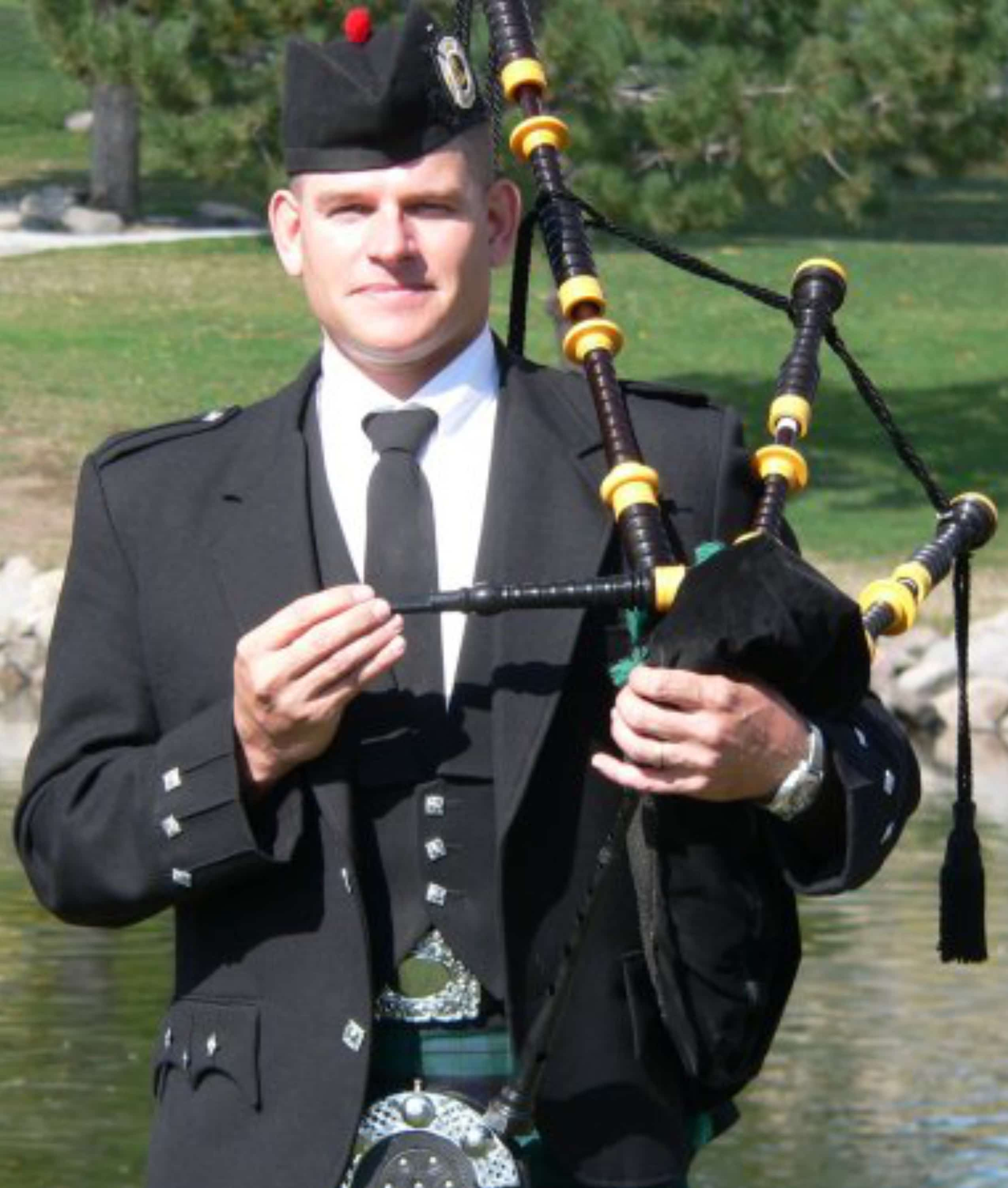 Michael Connell has been playing the bagpipe since 1998.
